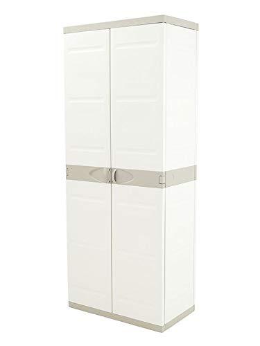 Plastiken Armario TITANIUM 70 cm con ESCOBERO color BEIG (70cm de ancho x 44 cm de hondo x 176cm de Alto)