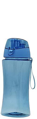 Steuber LoopY Kinder Trinkflasche 460ml hellblau aus Tritan, Sportflasche mit Schraubverschluss, angenehme Trinköffnung