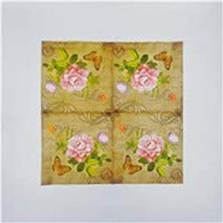 HXQCZ 20 vintage table napkins paper tissue pink rose flowers blue bird butterfly decoupage wedding party home cafe decor ...