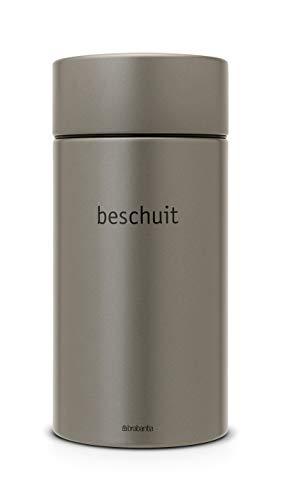Brabantia Barattolo per Spezie, Ingredienti o Biscotti, Acciaio Inossidabile, Grigio (Platinum), 1.7 l