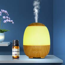smpufier WIFI control Suitable with Tuya,Google App Essential Oils Diffuser, 300ML compatable Alexa Wood Grain Ultrasonic Air Aroma Humidifier with Time Mode and Colurful Light For Home And Office