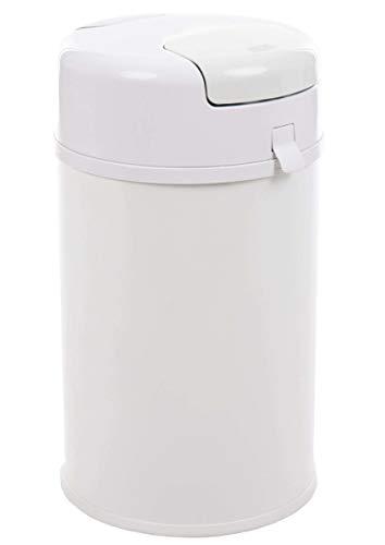 Fillikid Windeleimer X-Large Exklusiv | Windeltwister geruchsneutral | extra gross 35 L | Metall weiß mit Abdichtung | für normale Müllbeutel | keine teuren Nachfüllkassetten
