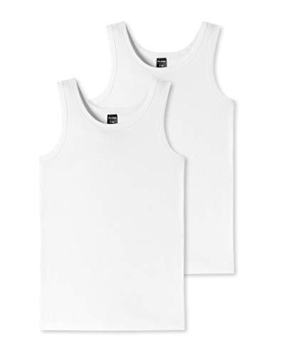 Schiesser 173538 Unterhemden 2er Pack 95/5 White 176