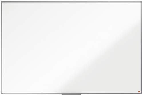 NoboPizarra Magnética de Acero, 1800 x 1200 mm, Marco de Aluminio, Fijado a la Pared con Montaje en las Esquinas, Bandeja para Rotuladores, Gama Essence, Blanco, 1905213