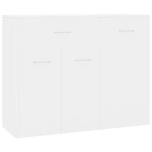 pedkit Sideboard Kommode aus Spanplatte Mit 1 gro?en Schublade und 3 Türen,Schubladenschrank Schrank Anrichte Standschrank 88 x 30 x 70 cm,Spanplatte