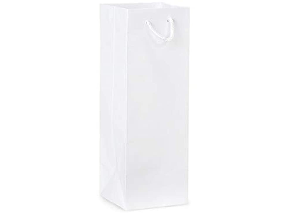 Gloss Wine Bags 4.5 x 4.5 x 13 12Pack (White)