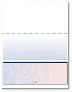 Blank Computer Checks for Laser & Ink Jet Printers, Pack of 100 Sheets (Red / Blue Prismatic Bottom)