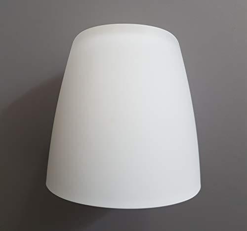 Ersatzglas Leuchtenschirm Lampenglas weiß matt Ø7,5cm H:7,5cm Lochdurchmesser: E14 Pendelleuchte Fluter Tischleuchte