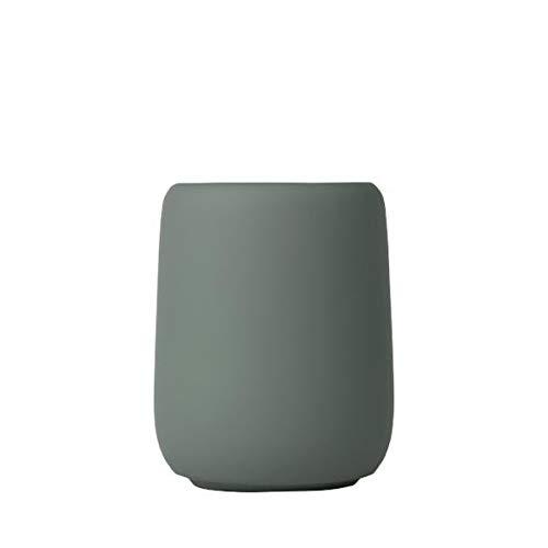 Blomus Sono Verre à Dents Céramique Silicone Agave Green H 11 cm Ø 8,5 cm V 0,3 L