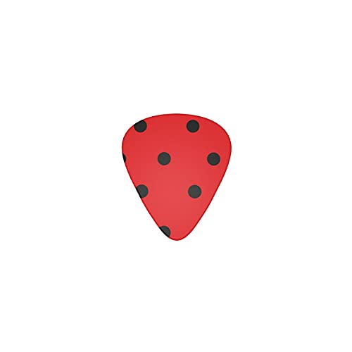 Generic Miraculous Ladybug Guitar Picks Guitar Pick 12 Pieces 3 Thickness Abs Bass Picks   Good Gift For Boyfriend