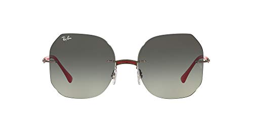Ray-Ban 0RB8067 Gafas, RED ON GUN METAL, 57 Unisex Adulto
