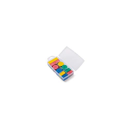 Jeujura - 8986- Jeux de Société-Boite 100 Jetons en Plastique