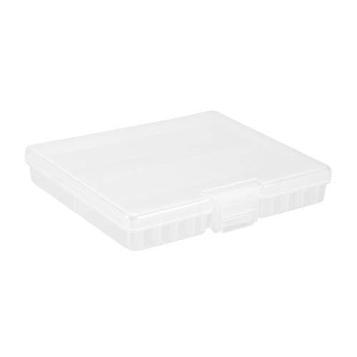 New Lon0167 Contenedor de Destacados caja de almacenamiento eficacia confiable de soporte de caja de plástico transparente para 48 pilas AAA(id:6de d1 4b 821)