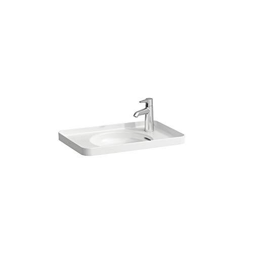 Laufen VAL Einbau-Waschtisch, ohne Hahnloch, mit Überlauf, 550x360, 304 innen, weiß, Farbe: Weiß mit LCC