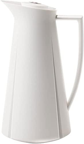 Rosendahl Grand Cru Thermoskanne, Kanne für Kaffee und Tee, Stahlkanne mit doppelwandigen Glas-Einsatz, vielfältige Kaffeekanne und Teekanne für Zuhause oder im Büro, Fassungsvermögen 1 L, Weiss
