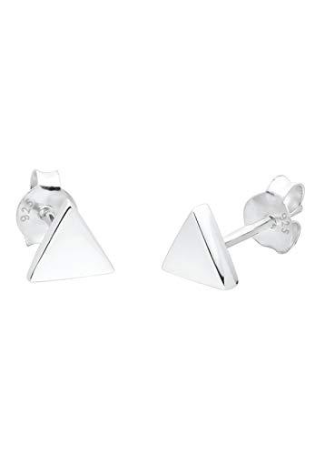 Elli Ohrringe Damen Basic Dreieck Geo Stecker in 925 Sterling Silber