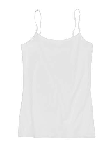 Ann Taylor LOFT Outlet Women's Cotton Stretch Camisole Tank (Medium, White)