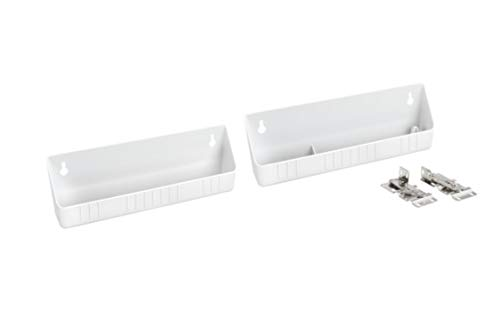 Rev-A-Shelf 6572-11-11-52 11-Inch Polymer Plastic Kitchen Sink Front Tip-Out Accessory Storage Trays, White