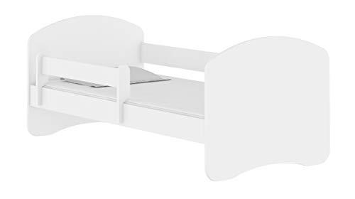 Letto per bambino Cameretta per bambino con materasso Lettino bambini (Bianco, 140x70)