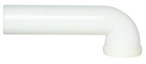 Pipe lisse longue 90° PVC MF