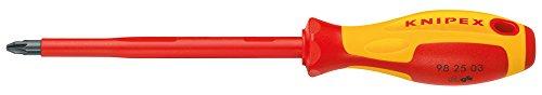 KNIPEX 98 25 00 Destornillador para tornillos cruciformes Pozidriv® 162 mm