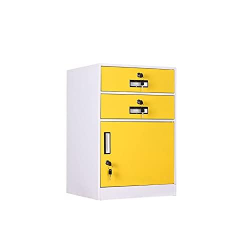 KJLY Gabinetes de oficina cajas de archivos de almacenamiento 2 capas archivador archivador con gabinetes de tipos de cajón de bloqueo espesado de hierro almacenamiento de herramientas verticales arti
