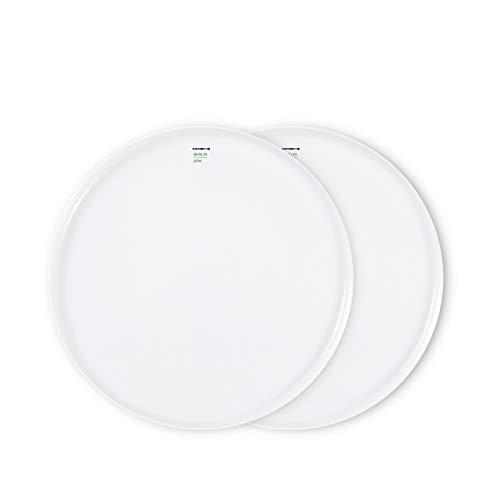 LAB Teller-Set Porzellan von KPM Berlin - Speiseteller-Set 19 cm - Handmade & als Geschenk verpackt - minimalistische Teller für jeden Tag - weiß