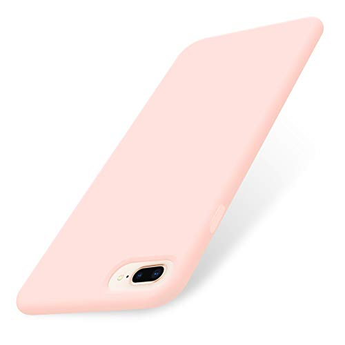 AOWIN iPhone 8 Plus Case,iPhone 7 Plus Case,Soft Silicone Gel Rubber Bumper Case Microfiber Lining Hard Shell Shockproof Full-Body Protective Case Cover for iPhone 7 Plus /8 Plus 5.5