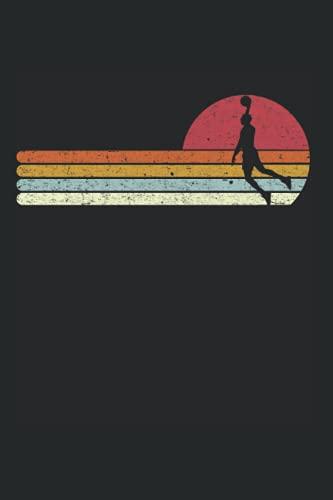 Basketball Sonnenuntergang Sonnenuntergang Vintage Retro Distressed: DIN A5 Kariert 120 Seiten / 60 Blätter Notizbuch Notizheft Notiz-Block Motive für Basketballspieler & Basketballer Sport