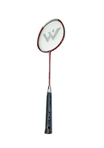 Rayline Sport Serie - Badminton Schläger BD001 für Erwachsene (Farbe: Rot), Gesamtlänge: ca. 66 cm - Gewicht: 100g / passend für Anfänger und Gelegenheitsspieler