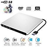 External DVD CD Drive USB 3.0 Burner Writer Drive Player for Laptop/Desktop/MacBook/Mac OS / Windows10 /8/7 / XP/Vista