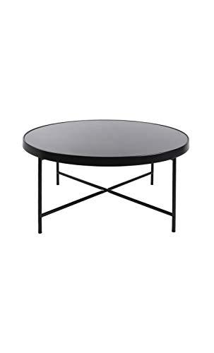 Present Time - Table Basse Noir Mat Plateau en Verre Smooth XL