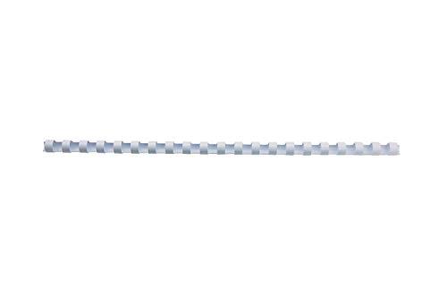 GBC Dorsi plastici 21A 6mm 100pz  - Bianco - 4028193