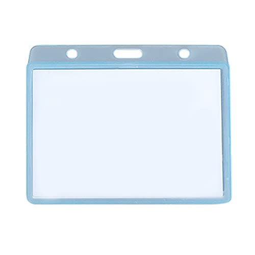 1/5/10 fundas horizontales para tarjetas de identificación, PVC transparente, soporte para tarjetas, tarjetas de nombre, tarjetas de visita, tarjetas de identificación, soporte para insignias