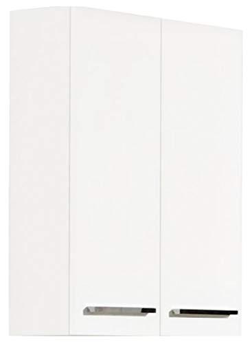 AVANTI TRENDSTORE - Blanco - Arredamento da Bagno Moderno, in Laminato di Colore Bianco (Armadietto da Muro, Largo)