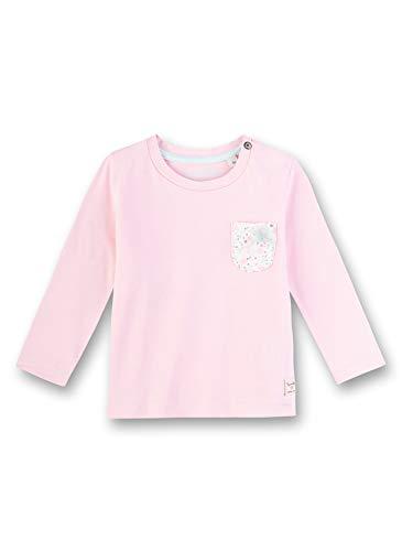 Sanetta Baby-Mädchen Shirt Langarmshirt, Rosa (Rosa 3053), 80 (Herstellergröße: 080)