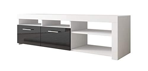 Mueble TV Clio (140x40cm) en Blanco y Negro