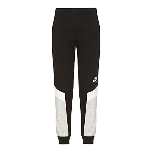 Nike CZ8608-010 W NSW Heritage Jogger FLC MR Pants Womens Black/Grey Heather/White/(White) M