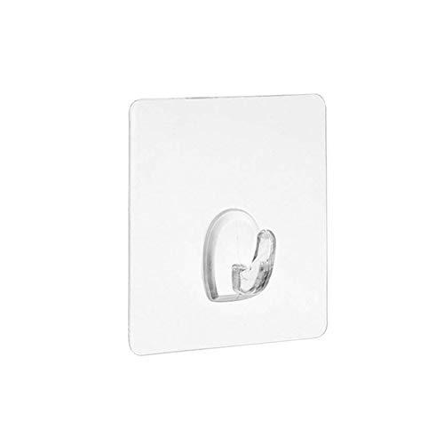 ZHIXX MALL - Ganci adesivi trasparenti, resistenti, per cucina, bagno, porta, parete, 10 pezzi