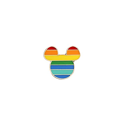 Diseño arco iris creativo corazón Yeh dedo Pin broche Metal Pin insignia Denim esmalte solapa joyería regalo