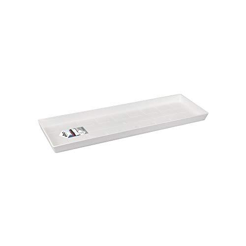 Elho Loft Urban Trough Saucer Platillo, White, 50 cm