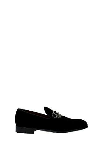 Zapatillas Dolce&Gabbana Hombre Velvet Negro y Plata A50001AR20780999 Negro 40EU
