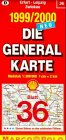Die Generalkarten Deutschland, Bl.36, Erfurt, Leipzig -