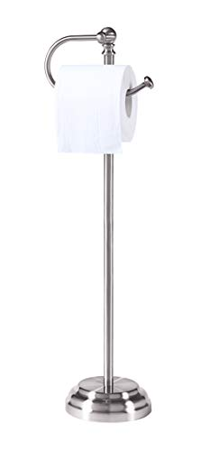 SunnyPoint Classic Bathroom Free Standing Toilet Tissue Paper Roll Holder Stand