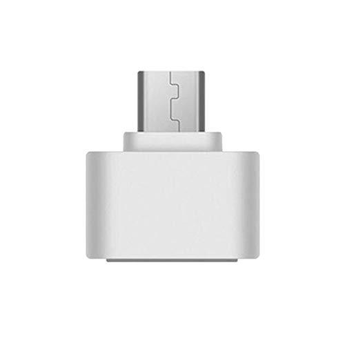 Tree-es-Life USB 3.0 Type-C OTG Cable Adapter Tipo C USB-C OTG Converter para Xiaomi Mi5 Mi6 Huawei Samsung Mouse Teclado USB Disk Flash - Blanco