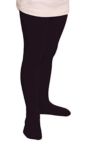 Good Deal Market Lot de 2 leggings thermiques pour enfant avec intérieur molletonné en tissu éponge uni Tailles 110/116 à 146/152 - Noir - 146