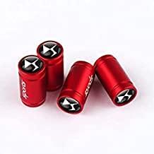 4 Piezas Coche Válvula Neumáticos Tapones Aleación Aluminio Para Citroen Logo C2 C3 C4 C5 C6 C4l Ds3 Berlingo, Impermeabile Metal Accessori Tapa Antirrobo