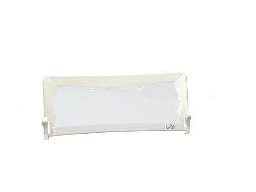 Barrera de cama para bebé, 180 x 66 cm. Modelo en blanco. Barrera de seguridad. Sello de calidad SGS.