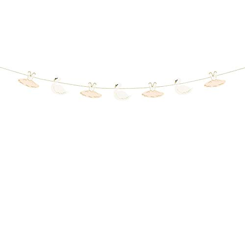 Luck and Luck Swan Ballerina Garland Bunting 2m Party Bedroom Decoration