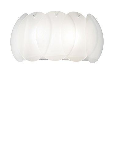 Ideal Lux 038025, Ovalino AP2 da Parete, Bianco